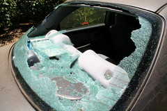 broken car back glass window need to be replace